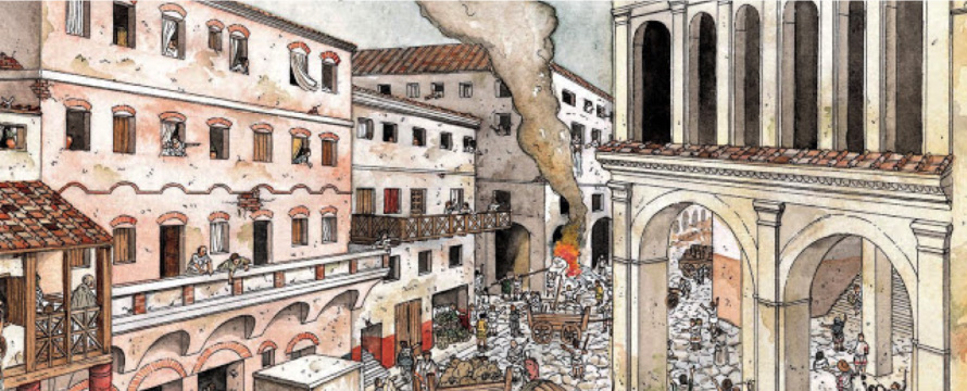 Dangers Of Living In An Insula Rome A City Of Rental Property